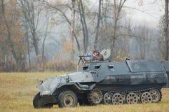 从坦克的射击 免版税库存照片