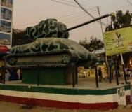 坦克纪念碑在哈尔格萨09的中心 01 2016年索马里 库存照片