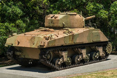 坦克谢尔曼M4A4 库存图片