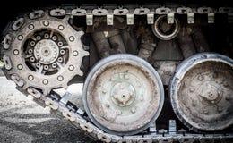 坦克轨道 免版税库存照片