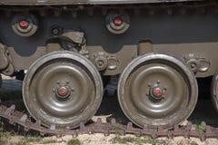 坦克轨道 免版税库存图片