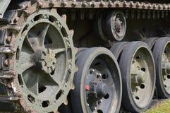 坦克轮子和轨道 库存照片