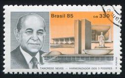 坦克雷多・内维斯总统当选人 免版税库存图片