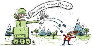 坦克攻击 免版税图库摄影