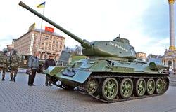 坦克T-34在基辅, 免版税库存照片