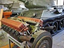 坦克T-34引擎  图库摄影