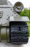 坦克t-34的排气管 图库摄影
