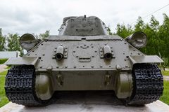 坦克t-34的排气管 免版税库存图片