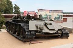 坦克T-34的遗骸 免版税库存照片