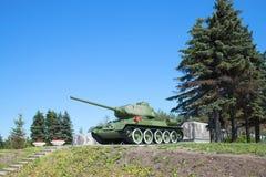 坦克T-34-85, juny天 普尔科沃高度,圣彼德堡 免版税库存图片