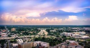 坦帕佛罗里达天空 免版税图库摄影