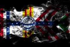 坦帕市烟旗子,佛罗里达状态,美利坚合众国 库存例证