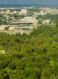 坦帕市鸟瞰图  库存照片