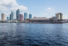 坦帕日间佛罗里达城市地平线  库存照片