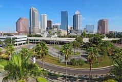 坦帕,佛罗里达地平线  免版税图库摄影