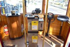 坦帕,佛罗里达-美国- 2016年1月07日:路面电车系统 图库摄影
