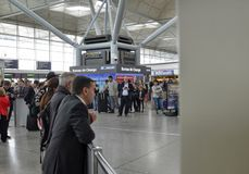 坦斯特德机场-斯坦斯特德明确伦敦,英国 2018?6?14? 库存图片