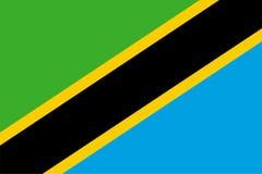 坦桑尼亚的传染媒介旗子 比例2:3 坦桑尼亚的国旗 坦桑尼亚联邦共和国 皇族释放例证