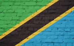 坦桑尼亚的旗子的纹理 皇族释放例证