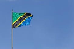 坦桑尼亚的旗子 免版税库存照片