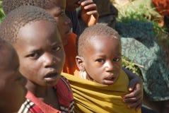坦桑尼亚非洲70的孩子 免版税图库摄影