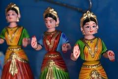 坦贾武尔印度木偶玩偶 免版税库存照片