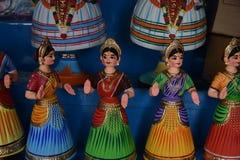 坦贾武尔印度木偶玩偶 图库摄影