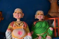 坦贾武尔印度木偶玩偶 库存照片