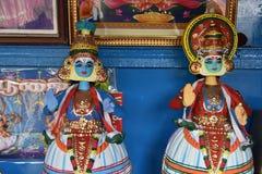 坦贾武尔印度木偶玩偶 库存图片