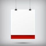垂悬与黑纸分类的抽象背景白纸标志 免版税库存图片