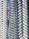 垂悬在堆的金属圆环 库存图片