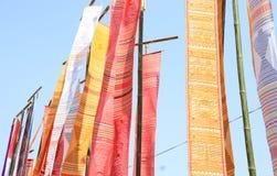 垂悬在杆的织品 库存图片