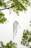 垂悬在树的列斯voyageurs在新加坡河晚上2015年 库存照片