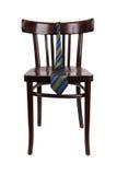 垂悬在椅子的镶边领带 免版税库存图片