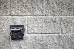 垂悬在混凝土墙背景的烟灰缸 免版税库存图片