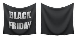 垂悬在白色背景的空白的黑星期五横幅 皇族释放例证