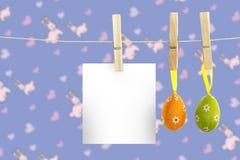 垂悬复活节彩蛋的综合图象 免版税库存照片