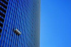 垂悬建立做的边的窗式洗衣机他们的工作 库存照片