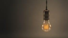 垂悬电灯泡的葡萄酒 库存图片