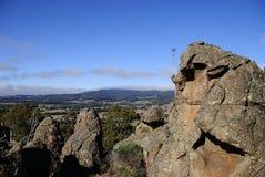 垂悬的岩石,维多利亚,澳大利亚 免版税库存图片