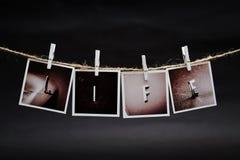 垂悬的照片 免版税库存照片