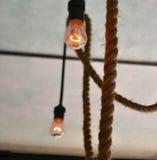 垂悬的电灯泡serie 免版税库存图片