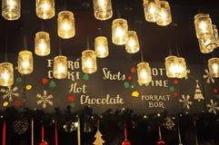 垂悬从天花板的灯笼 免版税库存照片