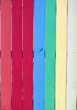 垂直五颜六色的范围被绘 免版税库存图片
