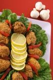 垂直开胃菜的蘑菇 图库摄影