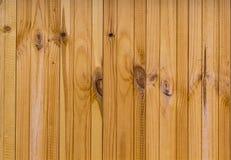 垂直的委员会米黄温暖的轻的木背景纹理 免版税图库摄影