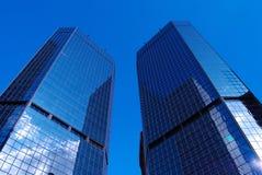 垂直的摩天大楼 库存图片