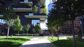 垂直的森林,米兰,波尔塔Nuova摩天大楼住所,意大利 影视素材