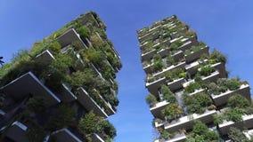 垂直的森林,米兰,波尔塔Nuova摩天大楼住所,意大利 股票录像