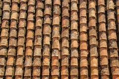 垂直的瓦屋顶在格拉纳达 库存照片